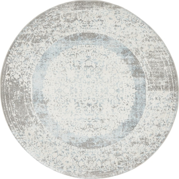 Unique Loom Olwen New Classical Round Rug - 4' x 4'