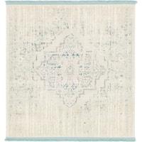 Unique Loom Attiki New Classical Square Rug - 4' x 4'