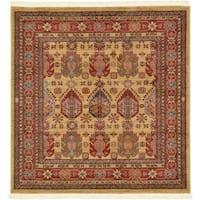 Unique Loom Balash Sahand Square Rug - 4' x 4'