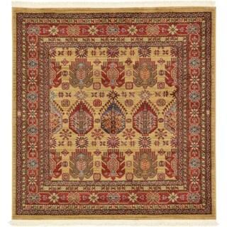 Unique Loom Balash Serapi Square Rug - 4' 0 x 4' 0