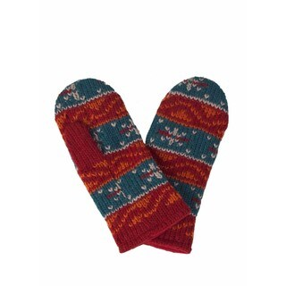 Laundromat Robin Orange Fashion Wool Mittens
