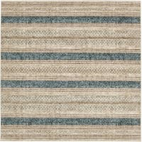 Unique Loom Stripes Chimera Square Rug - 6' x 6'