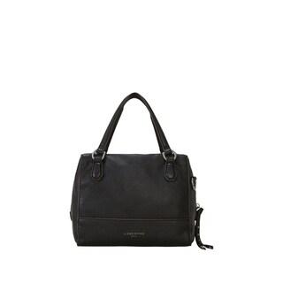Liebeskind Berlin Detroit Oil Black Milano Leather Mini Satchel Handbag