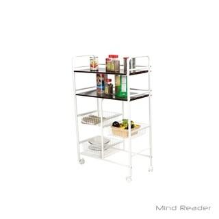 Mind Reader Portable Storage Kitchen Trolley