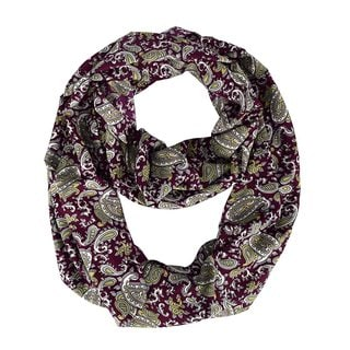 Link to Peach Couture Women's Rainbow Paisley Maroon Infinity Loop Scarf - Medium Similar Items in Scarves & Wraps