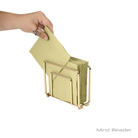 Mind Reader Modern Rose Gold Napkin Holder