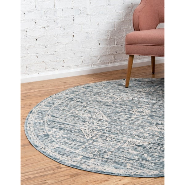 Unique Loom Birch Paris Round Rug - 6' x 6'