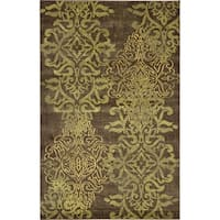 Unique Loom Energetic Damask Area Rug - 5' x 8'