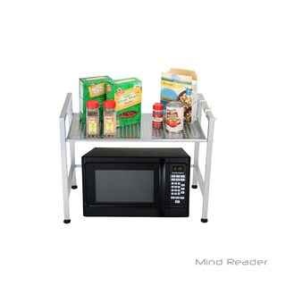 Mind Reader Metal Top Microwave Shelf Counter Unit