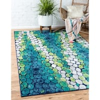 Unique Loom Metro Pebbles Area Rug - 4' x 6'