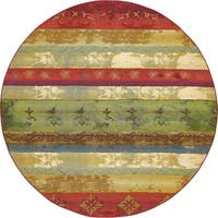 Unique Loom Traditional Outdoor Round Rug - 8' x 8'