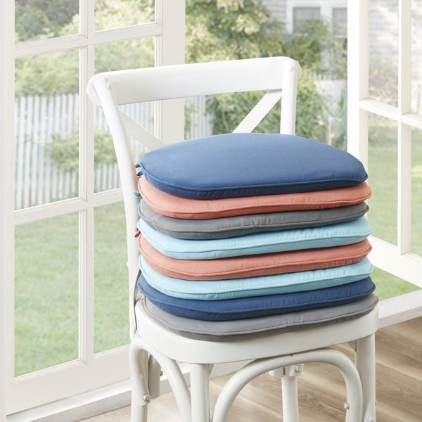 Shop Madison Park Mission Solid 3M Scotchgard Indoor/ Outdoor Chair Pad  (Set Of 2)   4 Color Option   Free Shipping Today   Overstock.com   18081007
