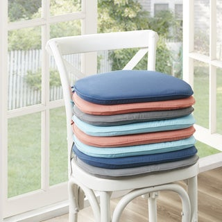 Madison Park Mission Solid 3M Scotchgard Indoor/ Outdoor Chair Pad (Set of 2) - 4 Color Option