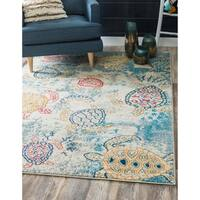Unique Loom Treasure Positano Area Rug - 9' x 12'