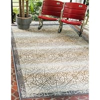 Unique Loom Geometric Outdoor Area Rug - 10' x 12'