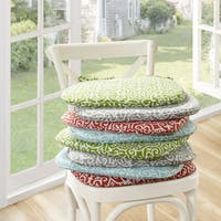Madison Park Morro Fretwork Indoor/ Outdoor Chair Pad Pair (Set of 2) - 4 Color Option