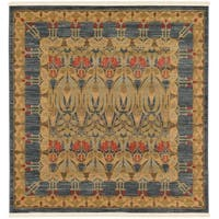 Unique Loom Carnation Heritage Square Rug - 6' 0 x 6' 0