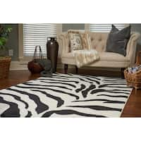 Unique Loom Zebra Wildlife Area Rug - 5' x 8'