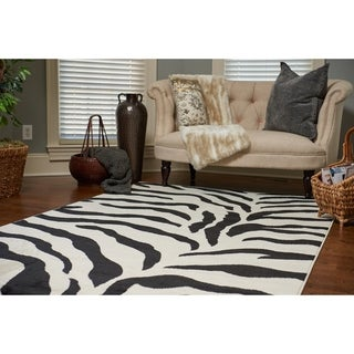 Unique Loom Zebra Wildlife Area Rug