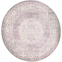 Unique Loom Olwen New Classical Round Rug - 6' x 6'