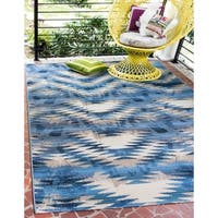 Unique Loom Aztec Outdoor Area Rug - 8' x 11' 4