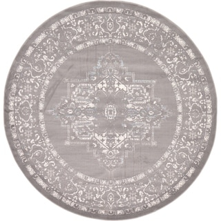 Unique Loom Attiki New Classical Area Rug (Gray - 6 x 6 Round)