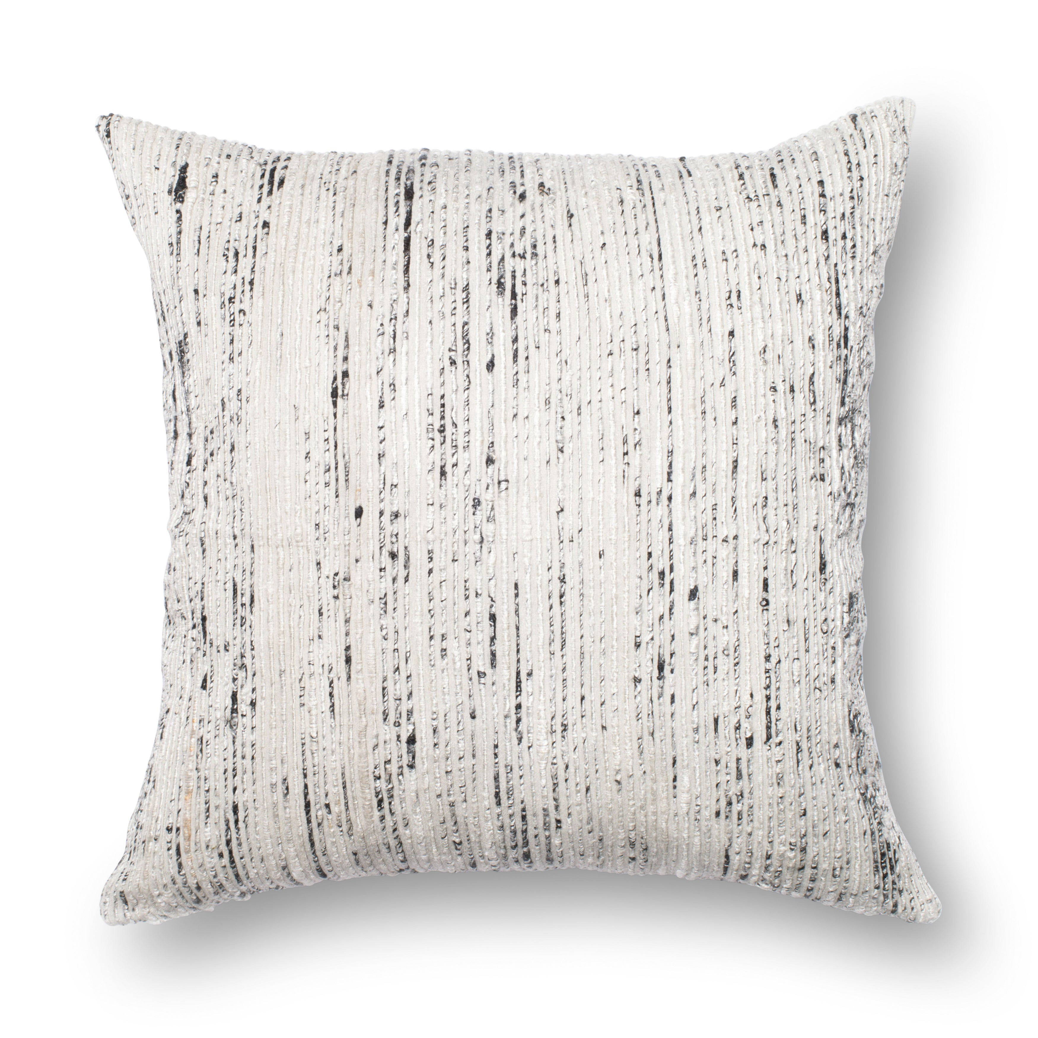 Textured Silver Ivory Stripe 22 Inch Throw Pillow Or Pillow Cover On Sale Overstock 18081313 Pillow Covers N A Rustic Bohemian Eclectic