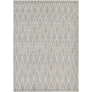 Morocco Ivory/Grey Area Rug (7' x 10')