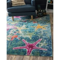 Unique Loom Seashore Positano Area Rug - 5' x 8'