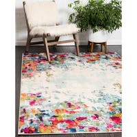 Unique Loom Joyous Chromatic Area Rug - multi - 5' x 8'