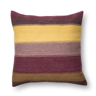 Woven Plum Southwest Stripe 22-inch Throw Pillow or Pillow Cover