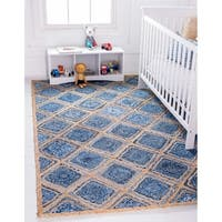 Unique Loom Bengal Braided Jute Area Rug - 9' x 12'
