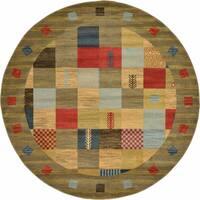 Unique Loom El Paso Fars Round Rug - 8' x 8'