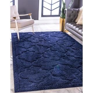 Unique Loom Traditional Trellis Shag Area Rug