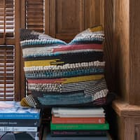 Woven Multi Uptown Throw Pillow or Pillow Cover 22 x 22