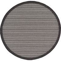 Unique Loom Checkered Outdoor Round Rug - 6' x 6'