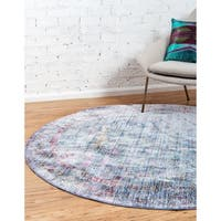 Unique Loom Lyrica Austin Round Rug - 6' x 6'