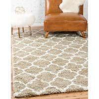 Unique Loom Marble Rabat Shag Area Rug - 9' x 12'