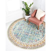 Unique Loom Treble Austin Round Rug - 8' x 8'
