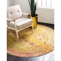 Unique Loom Muse Aria Round Rug - 6' x 6'