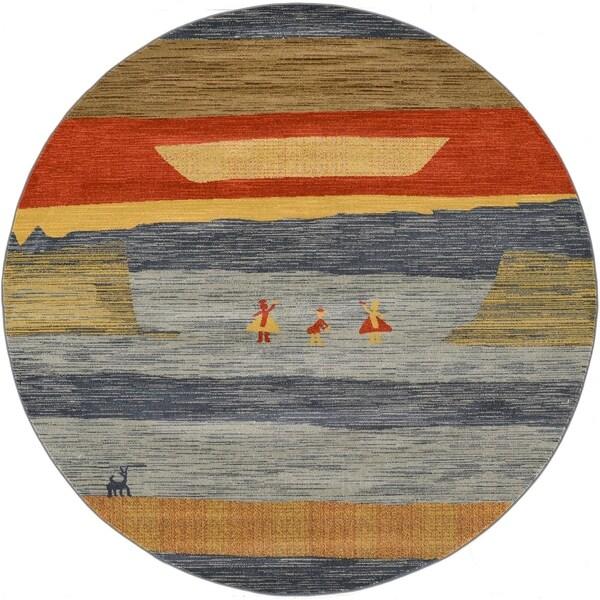 Unique Loom Alberta Fars Round Rug - 8' Round