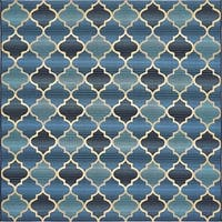 Unique Loom Trellis Outdoor Square Rug - 6' x 6'