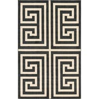 Unique Loom Greek Key Athens Area Rug - 5' x 8'