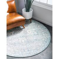 Unique Loom Olympia New Classical Round Rug - 6' x 6'