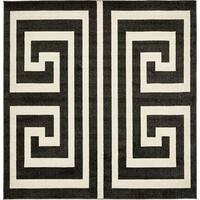 Unique Loom Greek Key Athens Square Rug - 8' x 8'