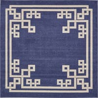 Unique Loom Geometric Athens Square Rug - 8' x 8' Square