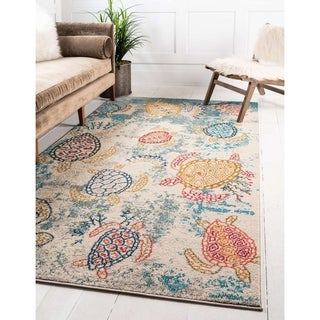 Unique Loom Treasure Positano Area Rug - 8' x 10'