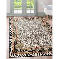 Unique Loom Jungle Safari Area Rug - 5' 0 x 8' 0
