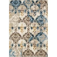 Unique Loom Ikat Mirage Area Rug - 7' x 10'