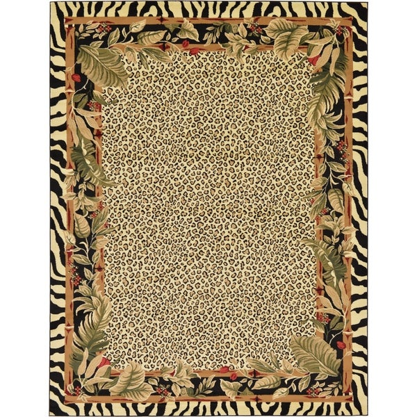 Shop Unique Loom Jungle Wildlife Area Rug 9 X 12 On